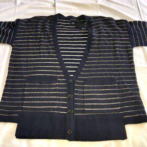 CLUB MONACO Anna striped cardigan | XS NWT FLAWED